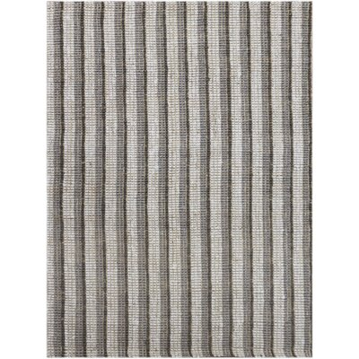 Koleby Striped Hand-Woven Gray Area Rug Rug Size: Rectangle 8 x 10