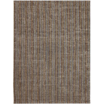 Koleby Striped Hand-Woven Brown Area Rug Rug Size: Rectangle 2 x 3