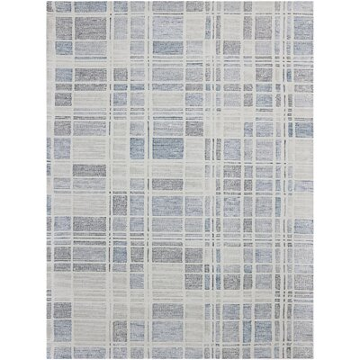 Callista Hand-Woven Wool Pewter Area Rug Rug Size: Rectangle 5 x 8