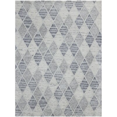 Callista Hand-Woven Wool Charcoal Area Rug Rug Size: Rectangle 76 x 96