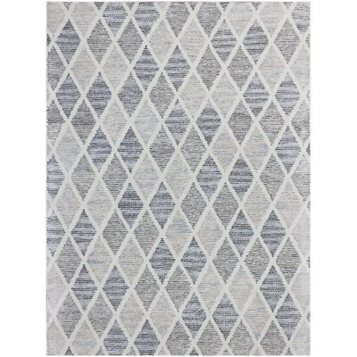 Callista Hand-Woven Wool Gray Area Rug Rug Size: Rectangle 76 x 96