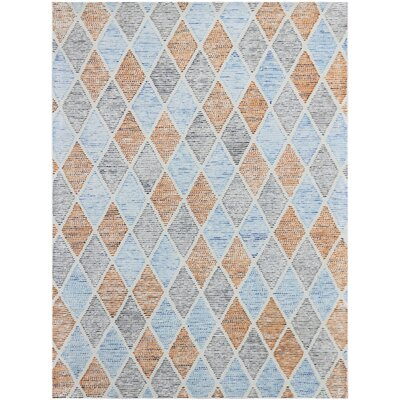 Callista Hand-Woven Wool Aqua Area Rug Rug Size: Rectangle 8 x 11