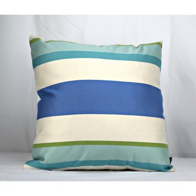 Cueva Stripe Sky Sunbrella Indoor/Outdoor Throw Pillow