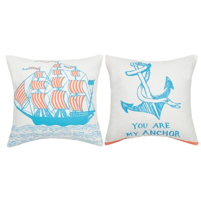 You Are My Anchor Cotton Throw Pillow