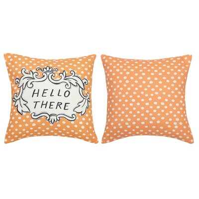 Hello There Cotton Throw Pillow