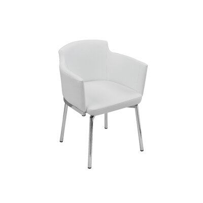 Wolk Dining Chair Color: White