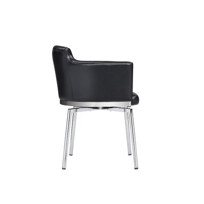 Wolk Dining Chair Color: Black