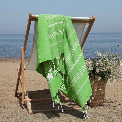 Prado Glittery Starfish Pestemal Beach Towel Color: Light Emerald