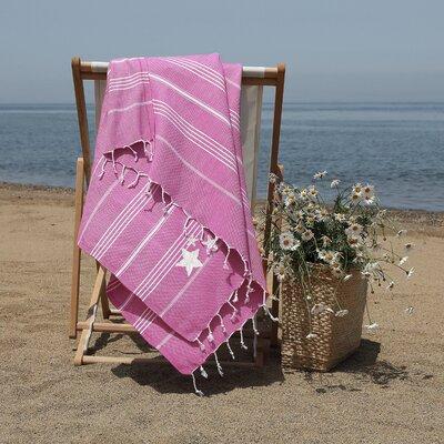 Prado Glittery Starfish Pestemal Beach Towel Color: Red Violet