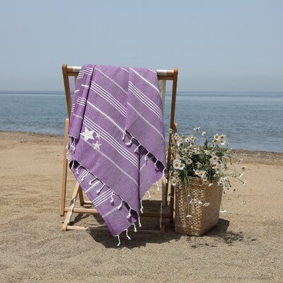 Prado Glittery Starfish Pestemal Beach Towel Color: Purple