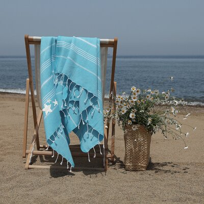 Prado Glittery Starfish Pestemal Beach Towel Color: Turquoise