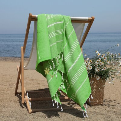 Prado Palm Tree Pestemal Beach Towel Color: Light Emerald