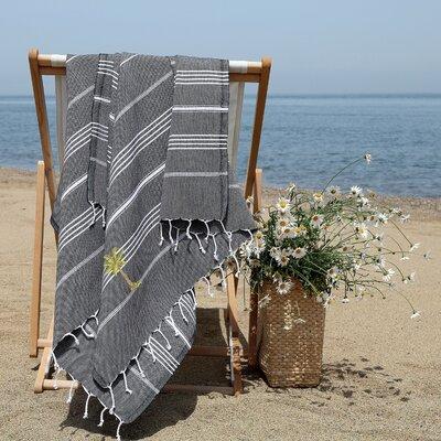 Prado Palm Tree Pestemal Beach Towel Color: Black