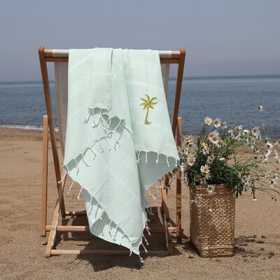 Prado Palm Tree Pestemal Beach Towel Color: Soft Aqua