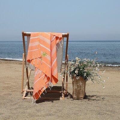 Prado Palm Tree Pestemal Beach Towel Color: Dark Orange