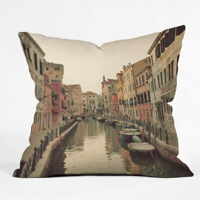 Happee Monkee Venice Waterways Throw Pillow Size: 18 x 18