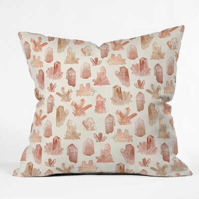 Dash and Ash Those Gems Though in Sunrise Throw Pillow Size: 16 x 16