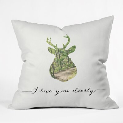 Allyson Johnson I Love You Deerly Throw Pillow Size: 26 x 26