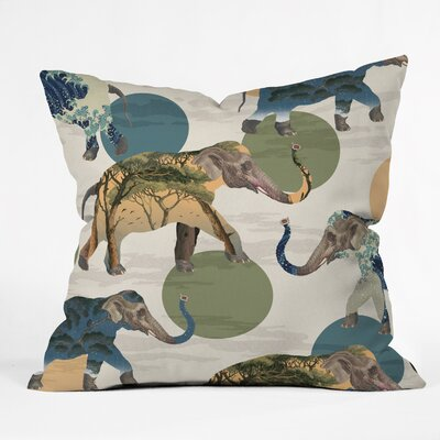 Belle Elephant Polka Throw Pillow Size: 26 x 26