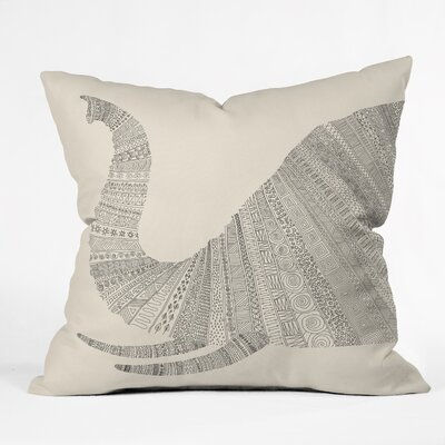 Florent Bodart Elephant Throw Pillow Size: 26 x 26