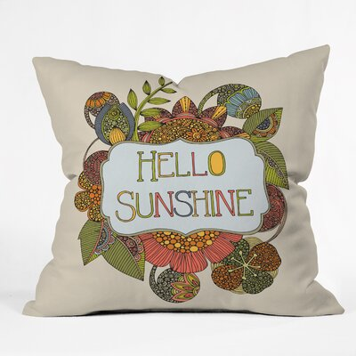 Valentina Ramos Hello My Sunshine Throw Pillow Size: 26 x 26