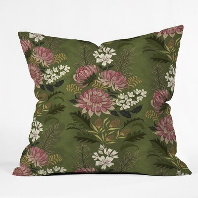 Pimlada Phuapradit Wildflowers Throw Pillow Size: 16 x 16