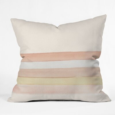 Wonder Forest She Said Stripes Throw Pillow Size: 26 x 26