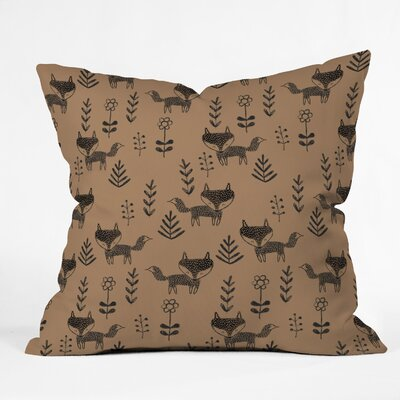 Dash and Ash Friendly Fox Throw Pillow Size: 26 x 26