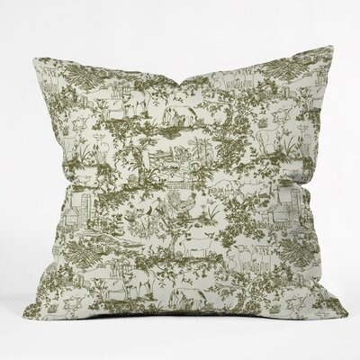 Rachelle Roberts Farm Land Toile Throw Pillow Size: 16 x 16