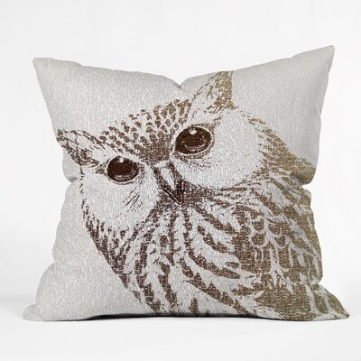 Belle the Intellectual Owl Throw Pillow Size: 16 x 16