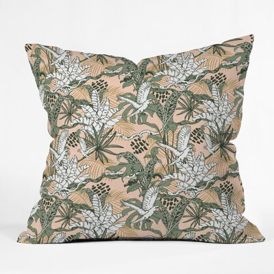 Marta Barragan Camarasa Jungle Drawing Throw Pillow Size: 16 x 16