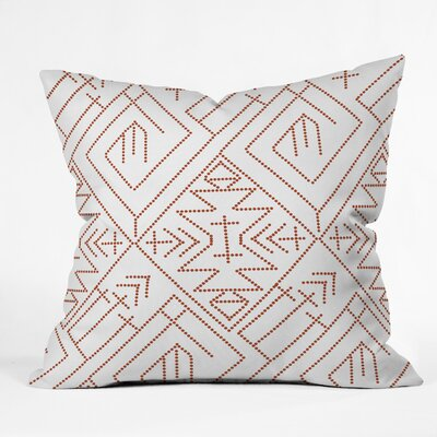 Vy La Cross Diamond Throw Pillow Size: 18 x 18