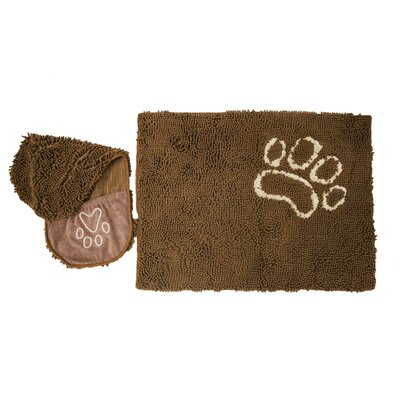 Hershman 2 Piece Pet Drying Towel and Doormat Color: Brown