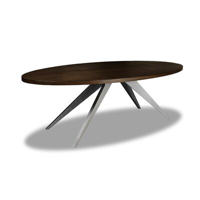 Macaulay Dining Table Color: Cognac, Size: 30 H x 84 W x 84 D