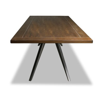 Macaulay Dining Table Color: Walnut, Size: 30 H x 72 W x 72 D