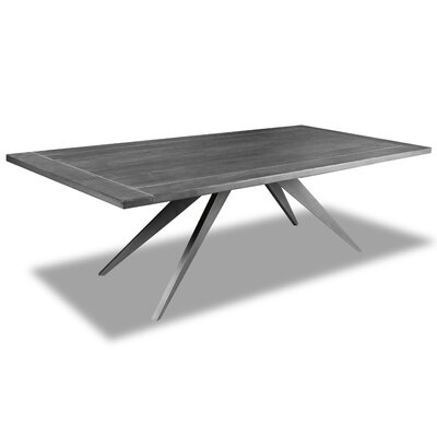 Macaulay Dining Table Color: Gray, Size: 30 H x 72 W x 72 D