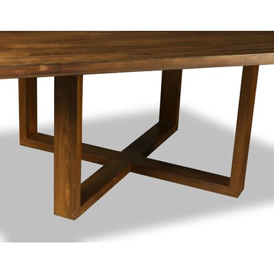 Nusbaum Dining Table Color: Walnut, Size: 30 H x 72 W x 72 D