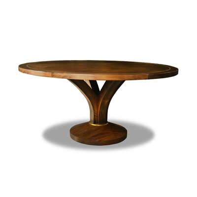 Paschke Dining Table Color: Walnut, Size: 30 H x 72 W x 72 D