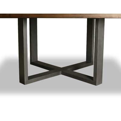 Nuno Dining Table Color: Walnut, Size: 30 H x 72 W x 72 D