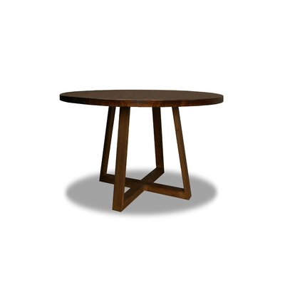 Masse Dining Table Color: Walnut, Size: 30 H x 48 W x 48 D