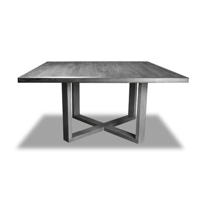 Nuno Dining Table Color: Gray, Size: 30 H x 60 W x 60 D