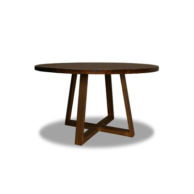 Masse Dining Table Color: Walnut, Size: 30 H x 54 W x 54 D
