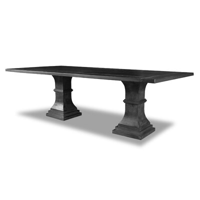 Pascarella Dining Table Color: Cement, Size: 30 H x 96 W x 96 D