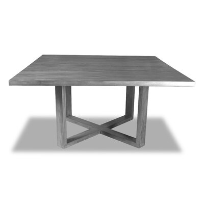 Nusbaum Dining Table Color: Gray, Size: 30 H x 60 W x 60 D