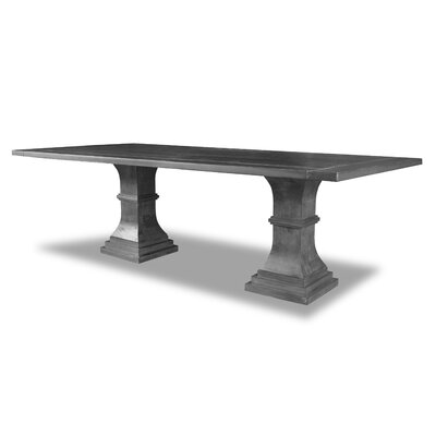 Pascarella Dining Table Color: Gray, Size: 30 H x 96 W x 96 D
