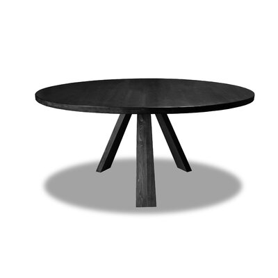 Nunley Dining Table Color: Cement, Size: 30 H x 72 W x 72 D