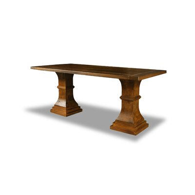 Pascarella Dining Table Color: Walnut, Size: 30 H x 72 W x 72 D