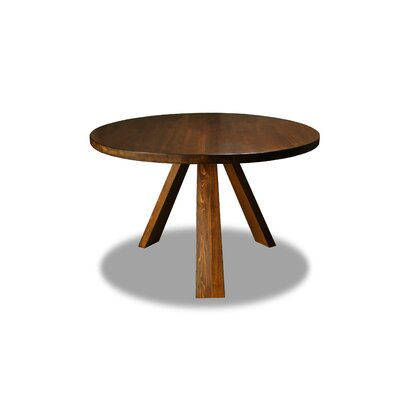 Nunley Dining Table Color: Walnut, Size: 30 H x 48 W x 48 D