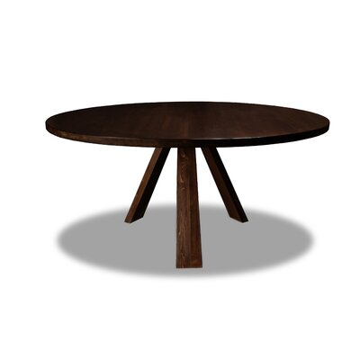 Nunley Dining Table Color: Cognac, Size: 30 H x 72 W x 72 D