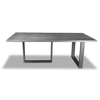 Macdonald Dining Table Color: Gray, Size: 30 H x 96 W x 96 D